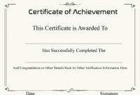 ❤️ Free Sample Certificate Of Achievement Template❤️ with Certificate Of Achievement Army Template