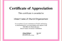 ❤️ Sample Certificate Of Appreciation Form Template❤️ intended for Employee Anniversary Certificate Template