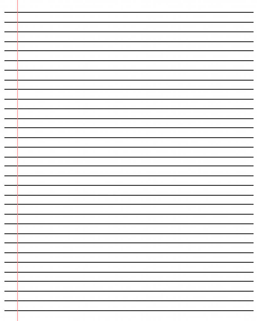 ❤️20+ Free Printable Blank Lined Paper Template In Pdf❤️ Throughout Ruled Paper Template Word