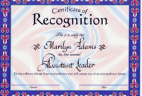 ❤️free Certificate Of Recognition Template Sample❤️ with regard to Safety Recognition Certificate Template