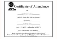 ❤️free Printable Certificate Of Attendance Sample Template pertaining to Attendance Certificate Template Word