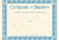 ❤️free Sample Certificate Of Baptism Form Template❤️ for Christian Certificate Template