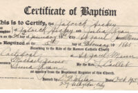 ❤️free Sample Certificate Of Baptism Form Template❤️ with regard to Baptism Certificate Template Download
