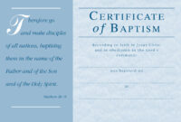 ❤️free Sample Certificate Of Baptism Form Template❤️ within Baptism Certificate Template Download