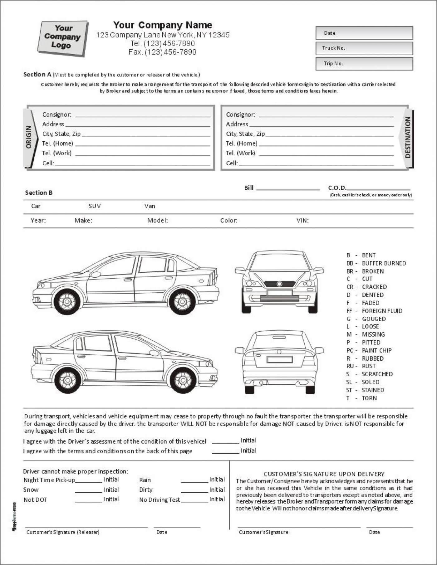 E84B Vehicle Damage Report Template | Wiring Resources With Car Damage Report Template