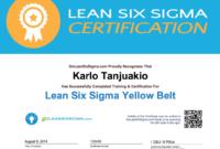 Earn Ceus And Pdus For Green Belt & Yellow Belt Training throughout Green Belt Certificate Template