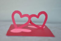 Easy Valentine's Day Pop Up Card: Linked Hearts Tutorial throughout Pop Out Heart Card Template