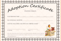 Editable Adoption Certificates Hadipalmexco Child Adoption regarding Blank Adoption Certificate Template