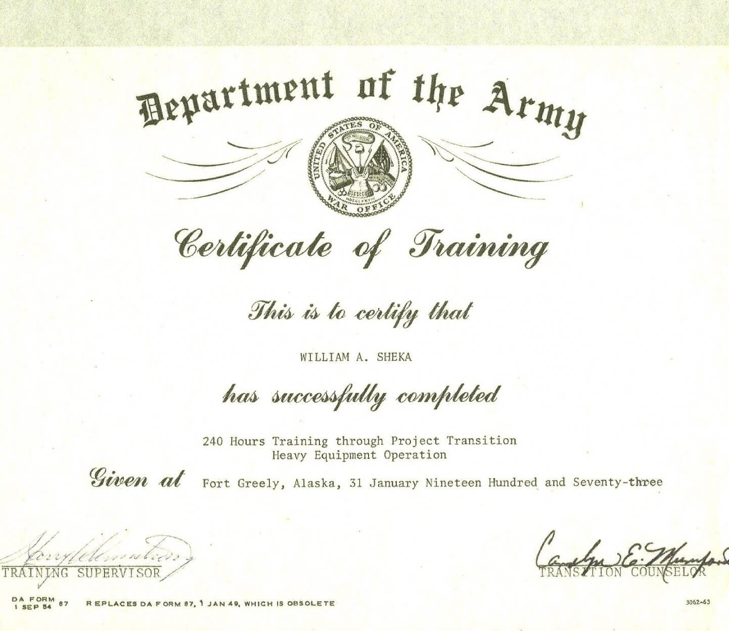 Editable Army Certificate Of Training Template Throughout Promotion Certificate Template
