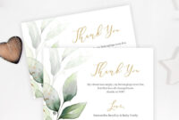 Editable Baby Shower Thank You Card, Printable Greenery within Powerpoint Thank You Card Template