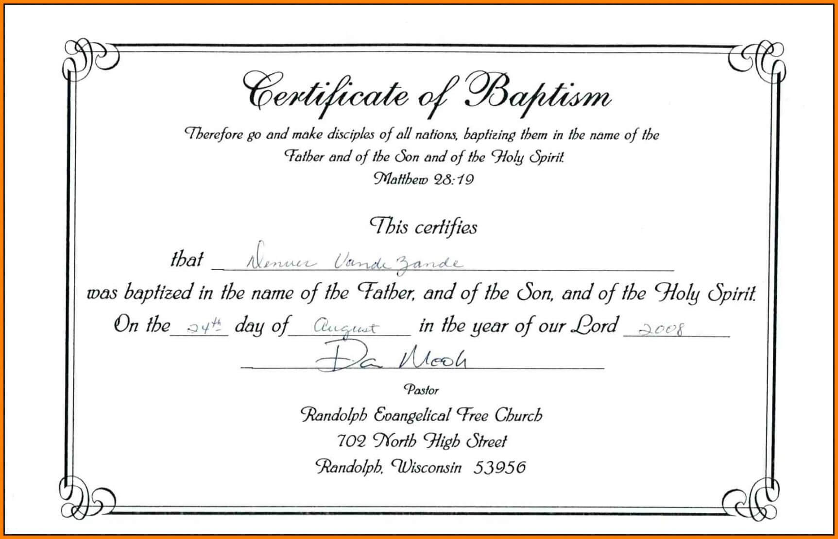 Editable Baptism Certificate Template Publisher Download With Baptism Certificate Template Download