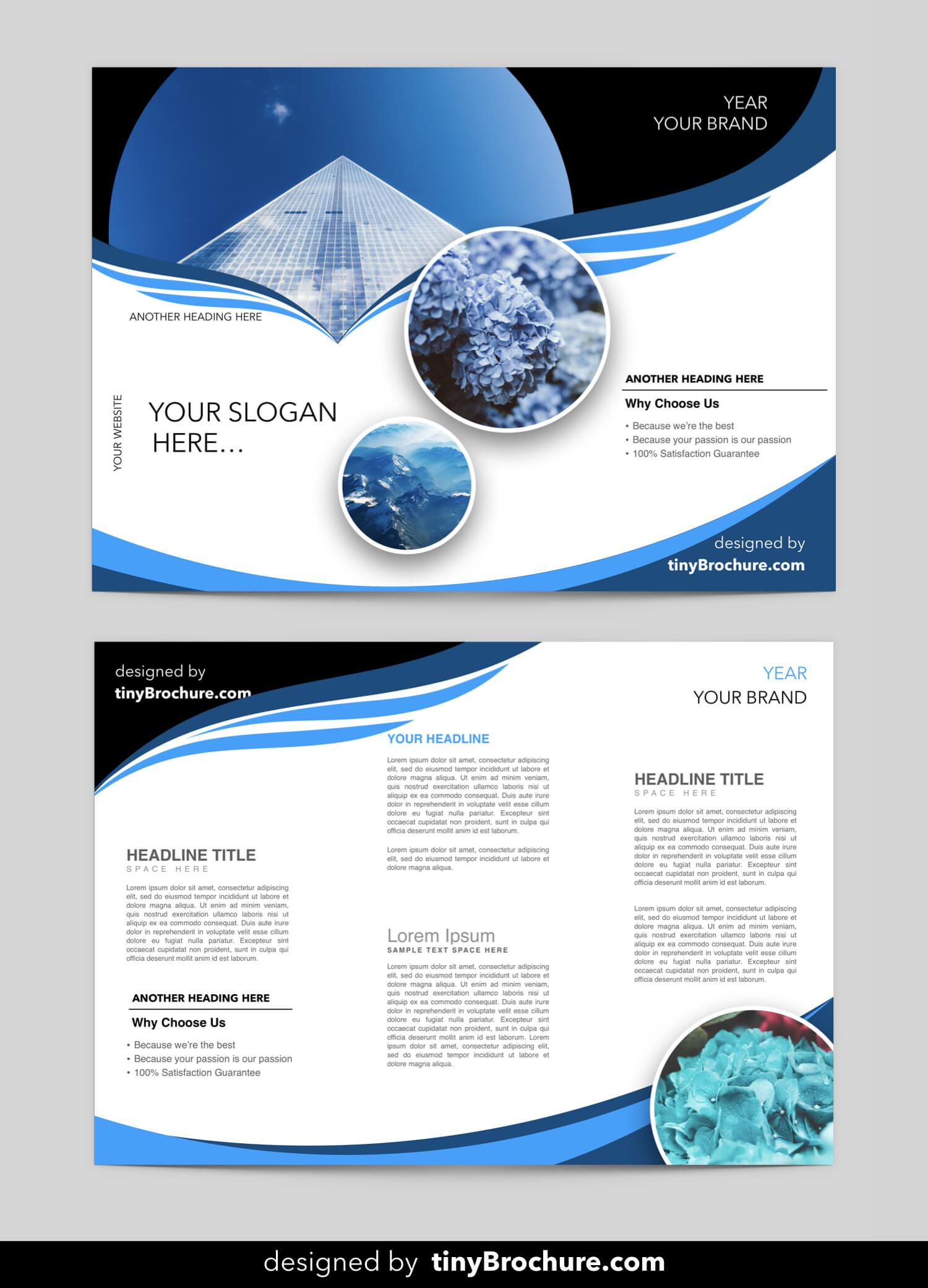 Editable Brochure Template Word Free Download | Word Within Brochure Template On Microsoft Word