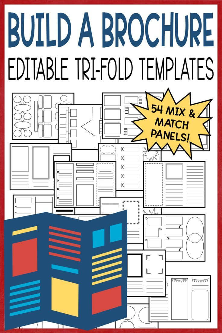 Editable Brochure Templates | Brochure Template, 7Th Grade For Brochure Rubric Template