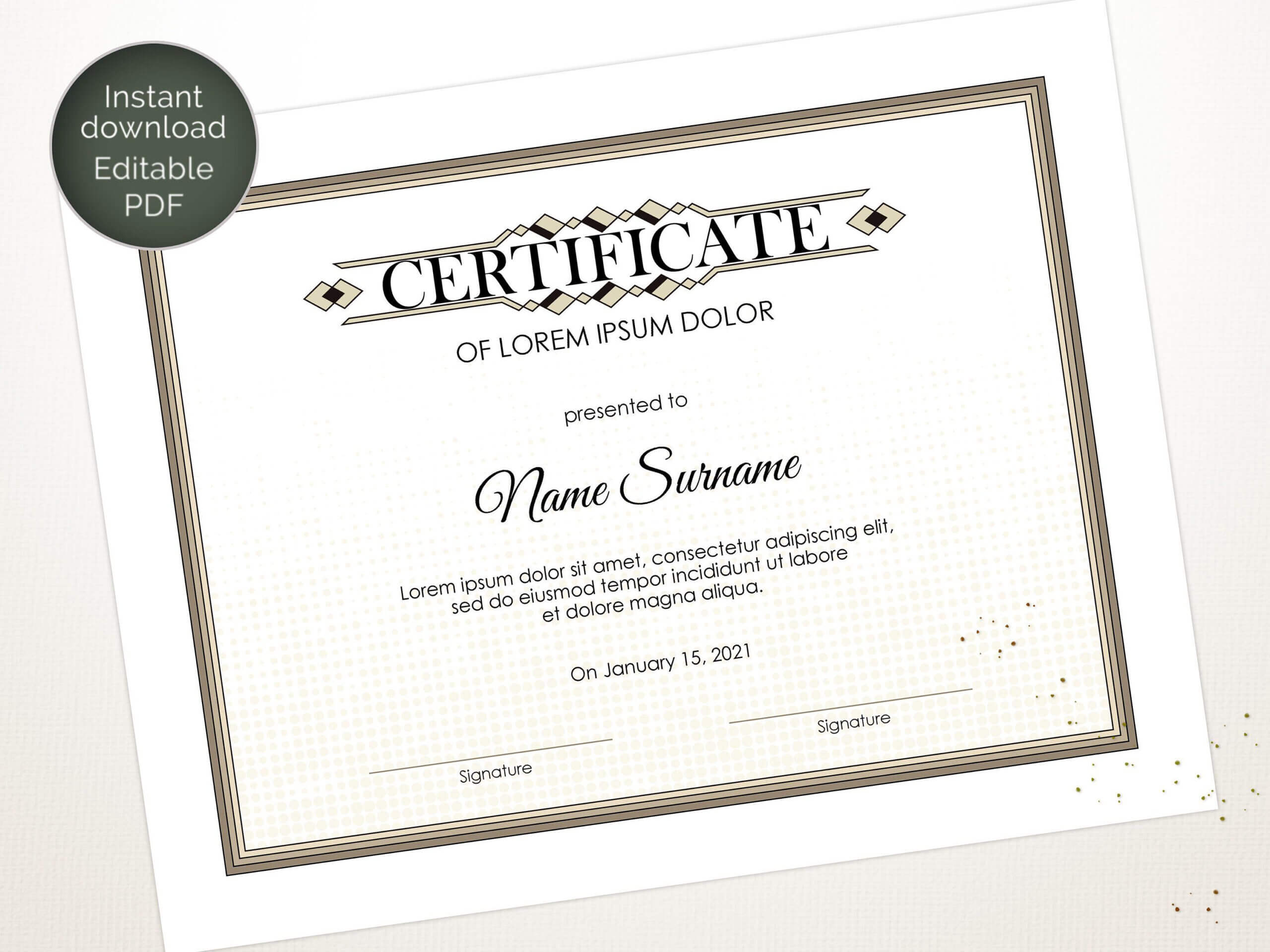 Editable Certificate Template, Blank Business Certificate For Update Certificates That Use Certificate Templates