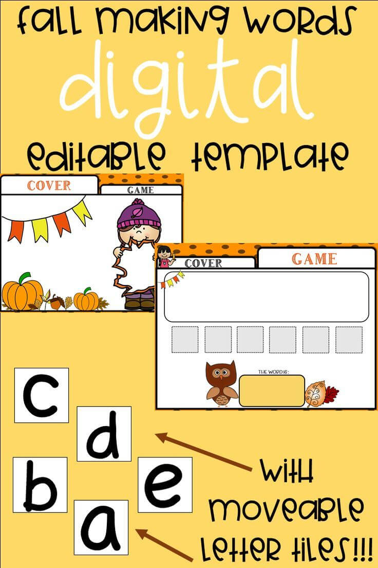 Editable Making Words Template | Fall Theme | Making Words Intended For Making Words Template
