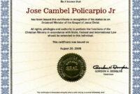 Editable Ordination Certificates Printable Ordination for Ordination Certificate Template
