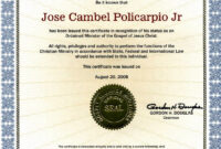 Editable Ordination Certificates Printable Ordination throughout Certificate Of Ordination Template