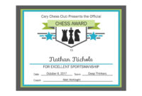 Editable Pdf Sports Game Team Chess Certificate Award for Premarital Counseling Certificate Of Completion Template