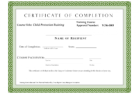 Editable Sample Certificate For Training Completion with regard to Fall Protection Certification Template