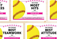 Editable Softball Award Certificates – Instant Download for Softball Certificate Templates