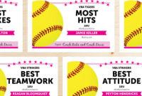 Editable Softball Award Certificates – Instant Download with regard to Softball Award Certificate Template