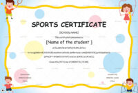 Editable Sports Day Certificate Template Inside Sports Day Certificate Templates Free