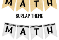 Editable Subject Banners – Burlap Theme | Classroom Banner in Classroom Banner Template