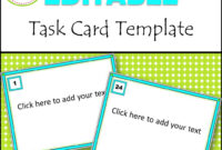 Editable Task Card Templates – Bkb Resources for Task Cards Template
