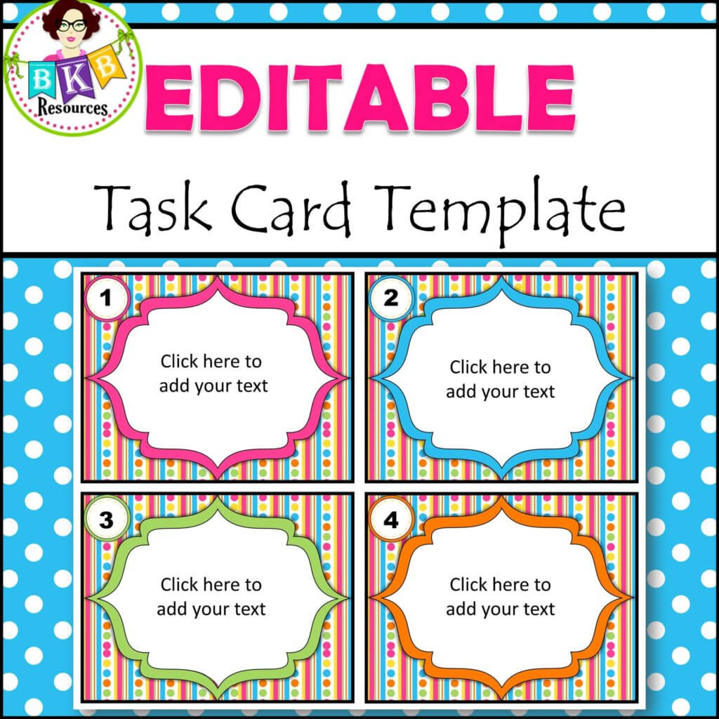 Editable Task Card Templates - Bkb Resources Pertaining To Task Cards Template