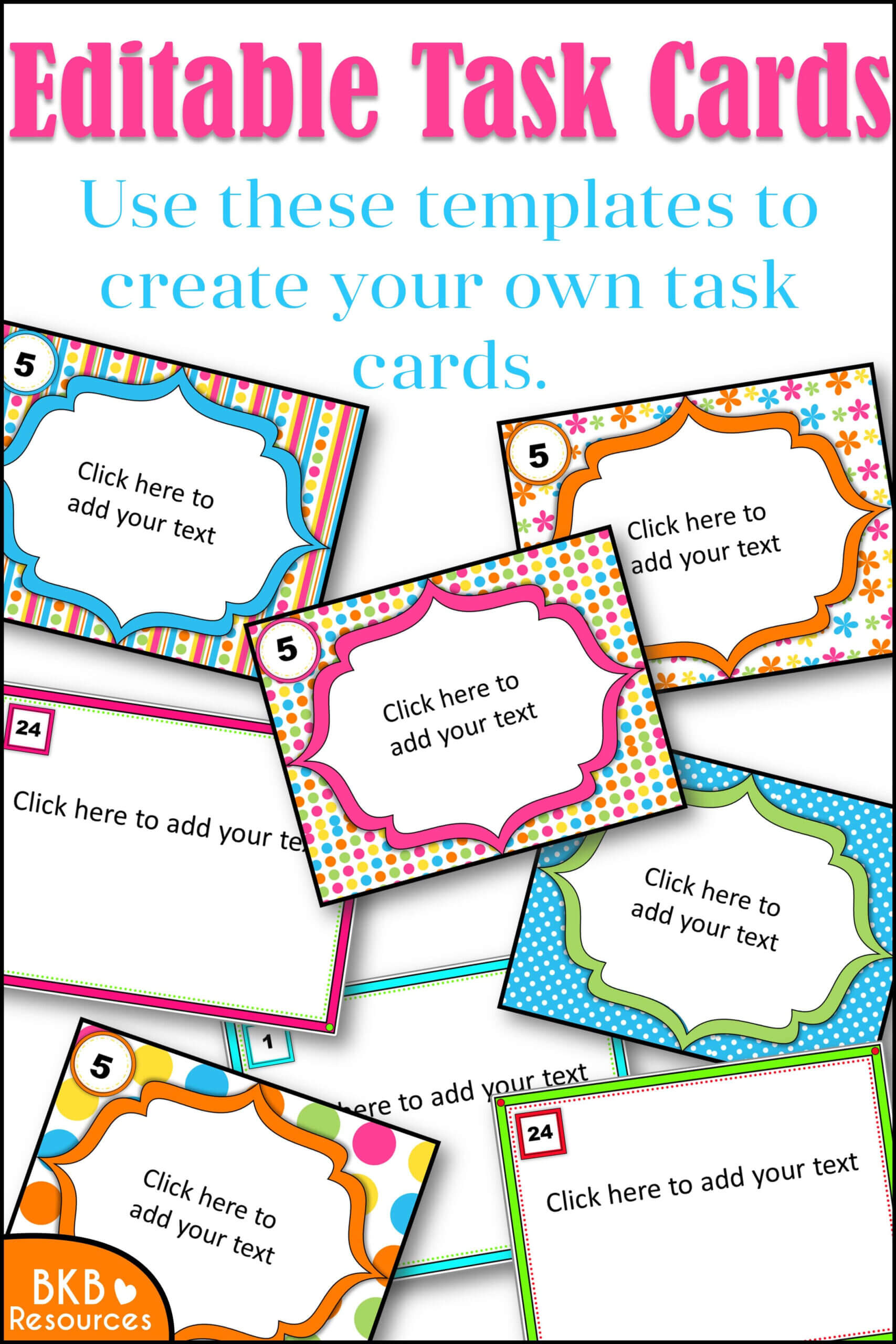 Editable Task Card Templates - Bkb Resources Within Task Card Template