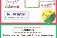 Editable Task Card Templates Seasonal Themed #austeacherbfr pertaining to Task Cards Template