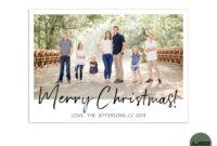 Editable // Template // Christmas Card Template inside Holiday Card Templates For Photographers