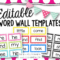Editable Word Wall Templates | Classroom Word Wall, Word Throughout Blank Word Wall Template Free