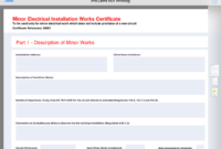Electrical Blog | Electrical Guides, Charts & Apps – Pro with Minor Electrical Installation Works Certificate Template