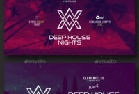 Electronic Music Party – Facebook Post Banner Templates Psd inside Facebook Banner Template Psd