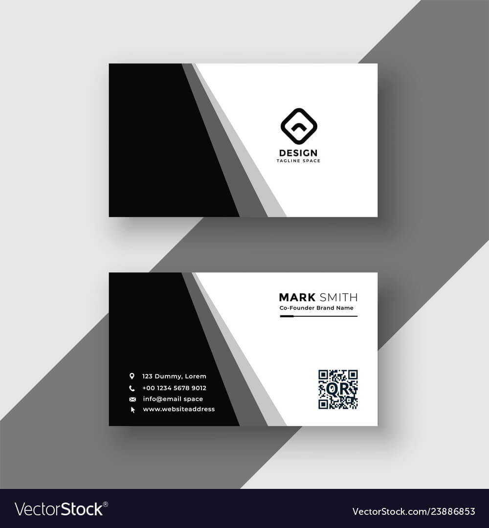 Elegant Black And White Business Card Template Pertaining To Black And White Business Cards Templates Free