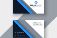 Elegant Blue Professional Business Card Template regarding Professional Name Card Template