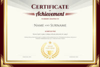 Elegant Certificate Of Achievement Template with Certificate Of Accomplishment Template Free