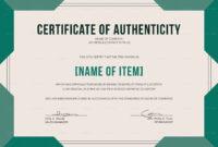 Elegant Certificate Of Authenticity Template with regard to Certificate Of Authenticity Template