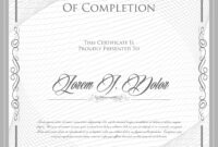 Elegant Certificate Template – Download Free Vectors within Certificate Of License Template