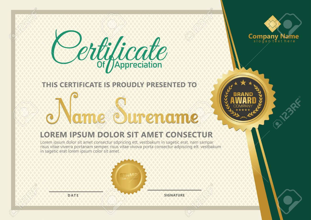 Elegant Certificate Template Vector With Luxury And Modern Pattern.. With Regard To Elegant Certificate Templates Free