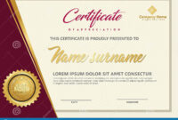 Elegant Certificate Template Vector With Luxury And Modern pertaining to Workshop Certificate Template