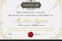 Elegant Certificate Vector & Photo (Free Trial) | Bigstock intended for Elegant Certificate Templates Free