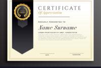 Elegant Diploma Award Certificate Template Design regarding Template For Certificate Of Award