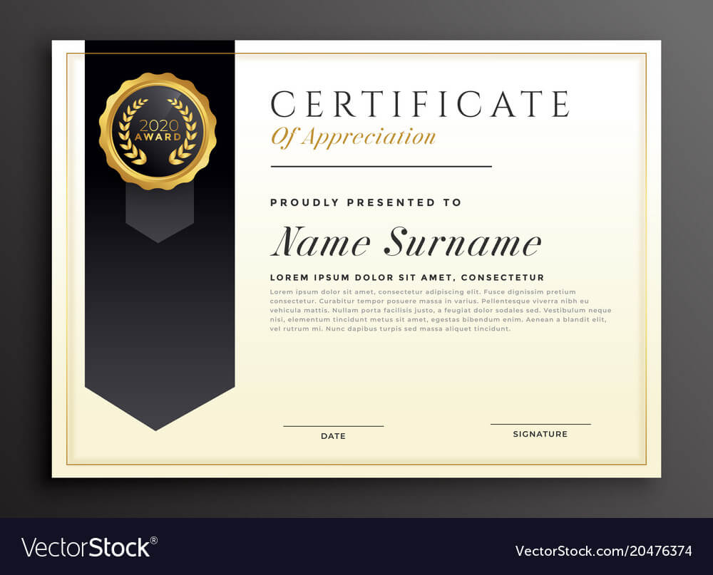 Elegant Diploma Award Certificate Template Design Within Design A Certificate Template