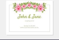 Elegant Flowers Frame Wedding Invitation Card with Church Wedding Invitation Card Template