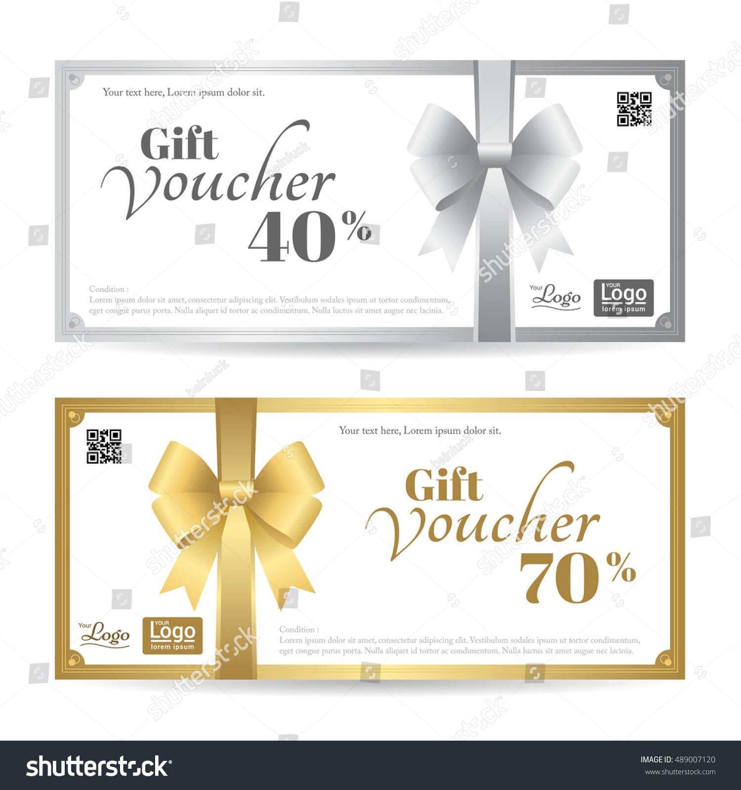 Elegant Gift Card Gift Voucher Template Stock Vector Pertaining To Elegant Gift Certificate Template