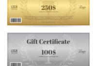 Elegant Gift Certificate Or Gift Voucher Template regarding Elegant Gift Certificate Template
