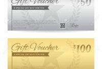 Elegant Gift Voucher Or Gift Card Certificate Template In Gold.. throughout Elegant Gift Certificate Template