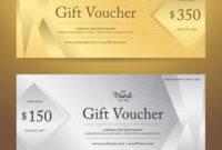 Elegant Gift Voucher Or Gift Card Template for Elegant Gift Certificate Template